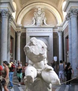 En av de mest kända konstverken i Vatikanmuseet