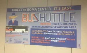 Buss till Rom från Leonardo da Vinci flygplatsen