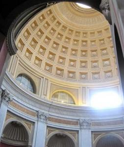 Round room ritades efter Pantheon som förlaga