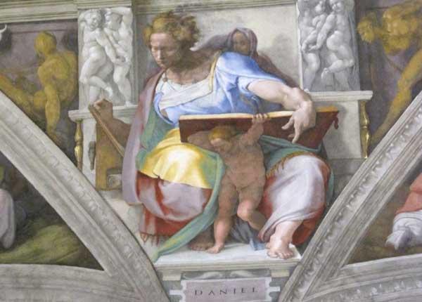 Väggmålning i Sixtinska kapellet i Vatikanmuseerna